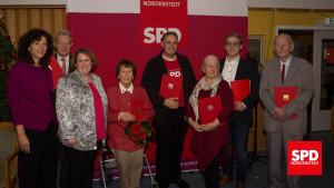 Weihnachtsfeier 2018 der SPD Norderstedt mit Ehrungen für langjährige Mitgliedschaft