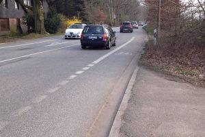 Foto Glashütter Landstraße - Radweg wird auf die Straße verschwenkt