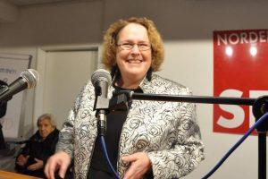 Ortsvereins-Vorsitzende Katrin Fedrowitz während des Neujahrsempfangs 2019 der Norderstedter SPD