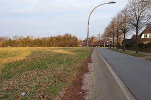 """Auf der Fläche links soll das Wohngebiete """"Sieben Eichen"""" entstehen"""