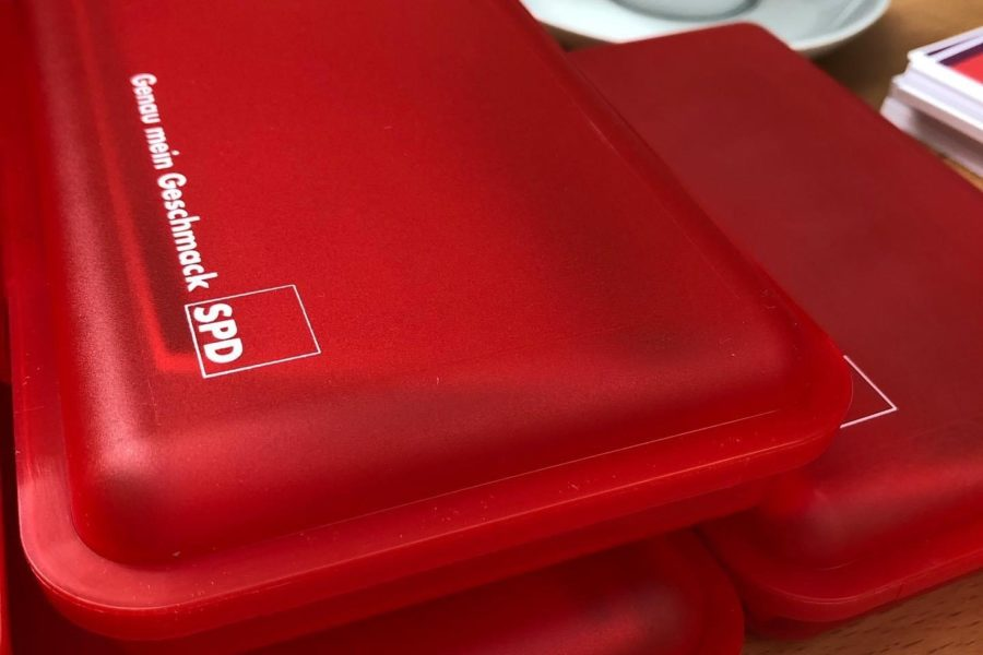 SPD-Brotdosen zum Schulanfang